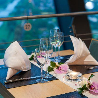 Valentinstags-Menü - Dreh-Restaurant Skyline Mannheim