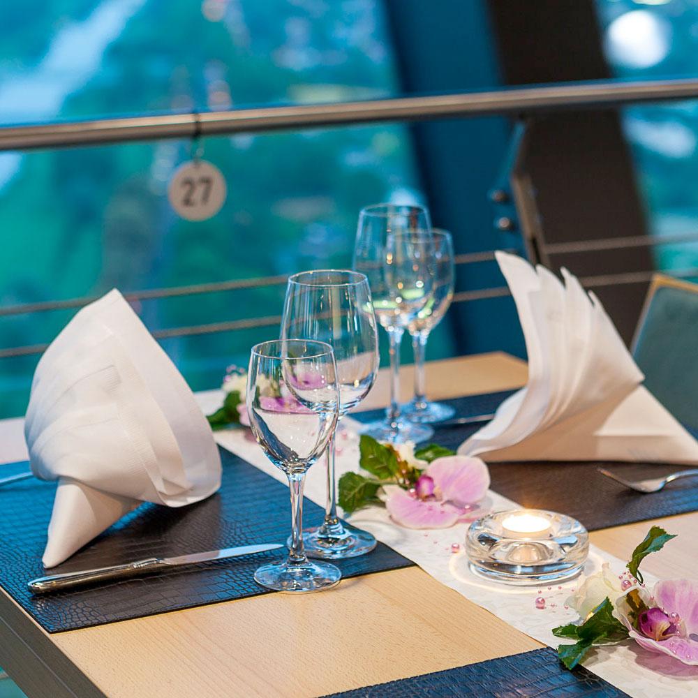 Valentinstags Menu 2019 Dreh Restaurant Skyline Mannheim